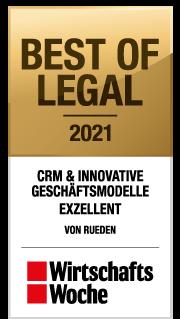 Award Wirtschaftswoche - VON RUEDEN