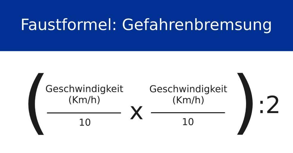 Berechnung des Bremswegs bei einer Gefahrenbremsung