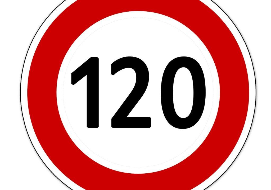 120 km/h Höchstgeschwindigkeit