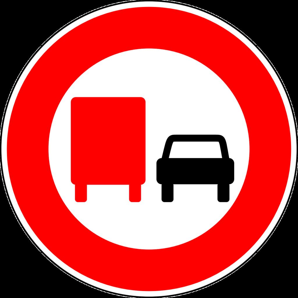 Überholverbot für Fahrzeuge über 7,5 t zulässigem Gesamtgewicht