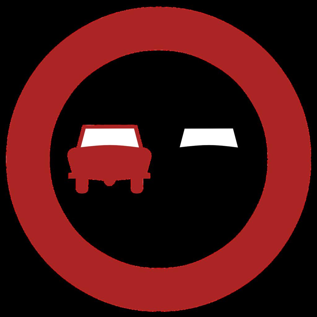 Zeichen 276, Überholverbot für alle Kraftfahrzeuge