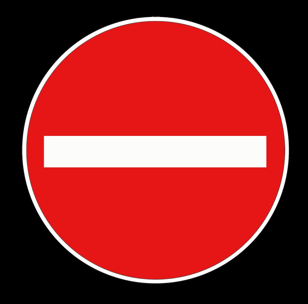 Zeichen 267 der Anlage 2 zu § 41 StVO