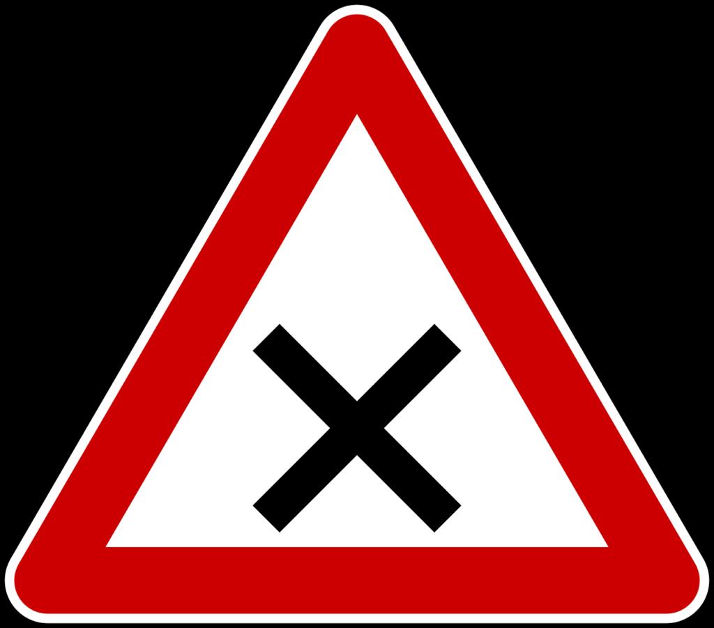 Kreuzung oder Einmündung mit rechts vor links
