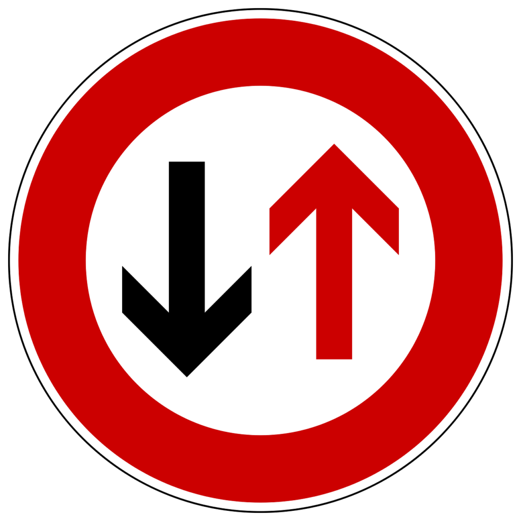 Vorrang des Gegenverkehrs