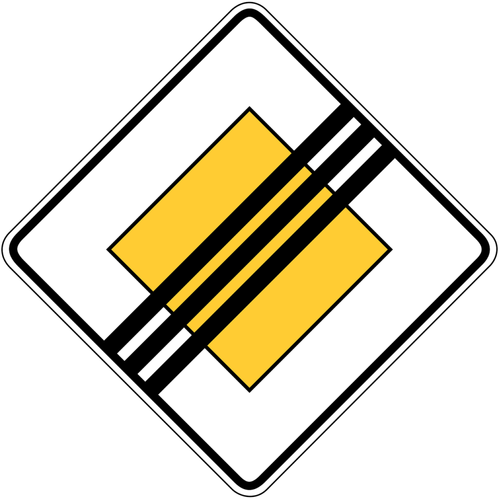 Ende der Vorfahrtsstraße