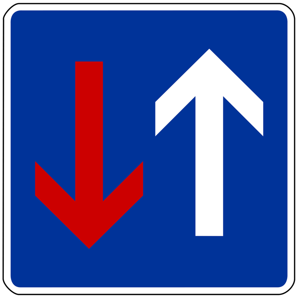 Vorrang vor dem Gegenverkehr