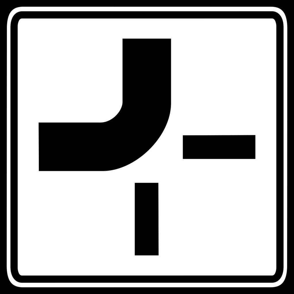 Abknickende Vorfahrtsstraße