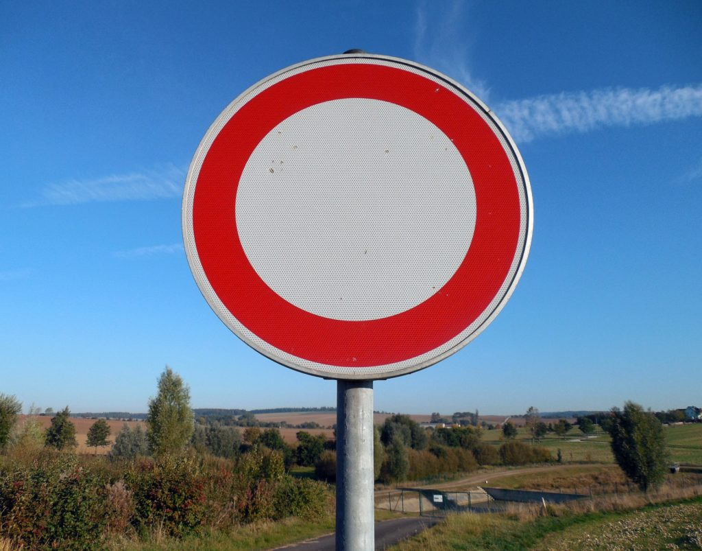 "Verkehrsschild 250 ""Verbot für Fahrzeuge aller Art"""