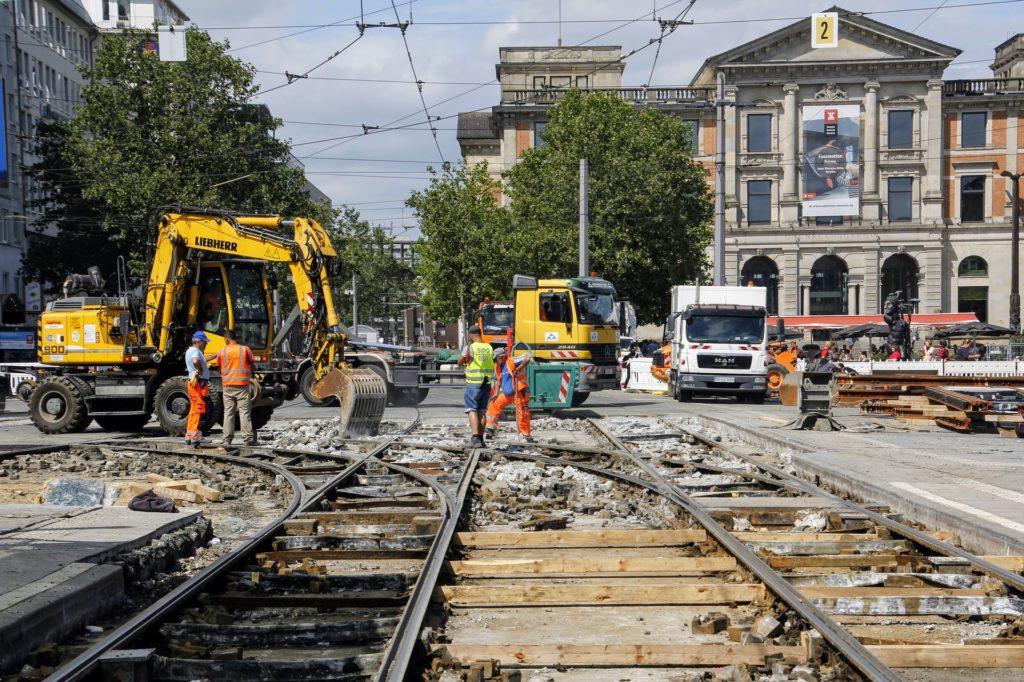 Baustellen sind temporäre Veränderungen an den Straßenverkehrsflächen.